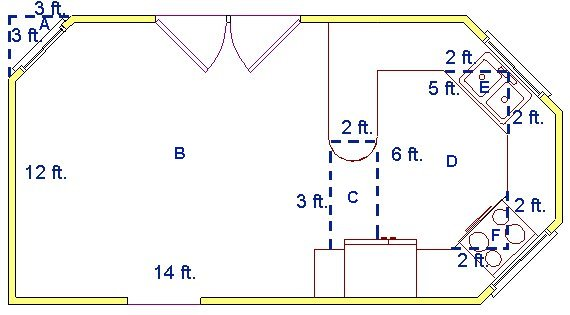 For a very complicated room, divide it into smaller sections and multiply  the length and width of each section. Then add, or subtract the area of  each as ...