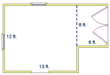 How to find square footage for 12 by 12 room sq ft