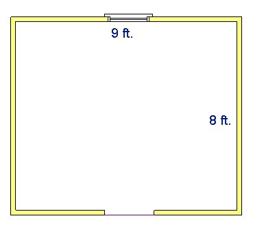 How to find square footage for Square footage of 12x12 room